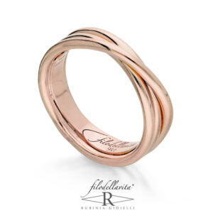 Anello Filodellavita Classic 3 fili, anello oro e argento, anelli FDV, gioielli fashion, Bellipario Gioielleria Palo del Colle, Gioielleria provincia di Bari;