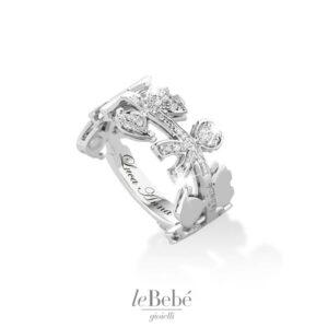 Collezione le Ghirlande leBebè, anello a fascia in oro e diamanti, nascite, mamme in attesa, donne incinta; Bellipario Gioielleria Palo del Colle, Gioielleria provincia di Bari;