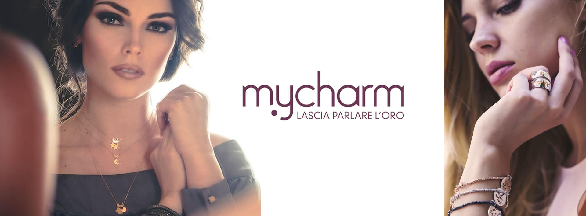 Logo MyCharm gioielli. Bellipario Gioielleria