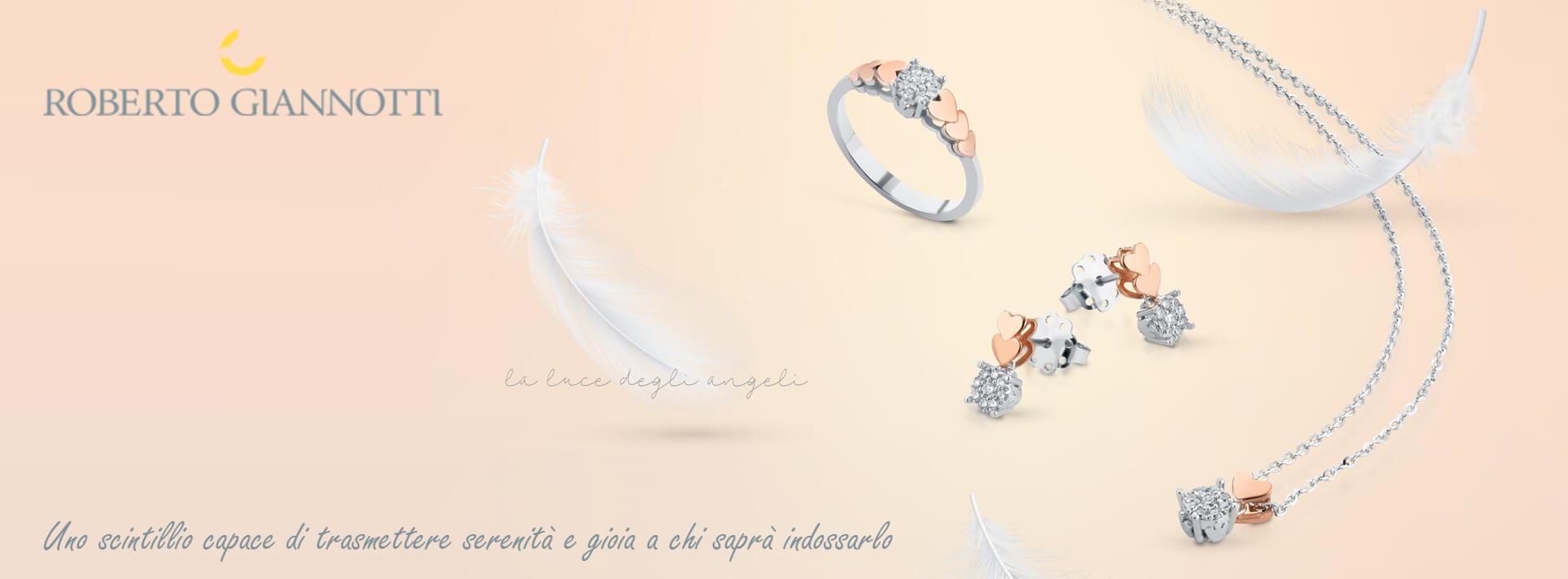 Roberto Giannotti gioielli Bellipario Gioielleria; Bracciali, collane, anelli, parure in oro e diamanti.