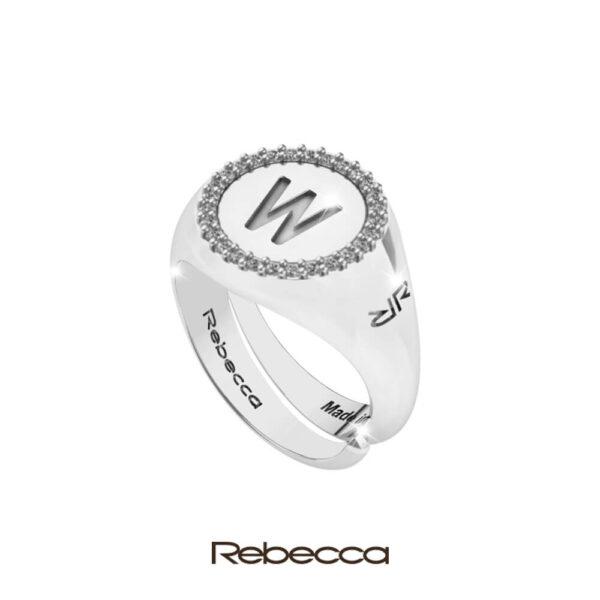 Collezione anelli MyWorld Silver Rebecca, Anelli in argento con iniziale nome, argento e zirconi; gioielli donna; anello con lettera alfabeto, idee regalo; Bellipario Gioielleria Palo del Colle, Gioielleria provincia di Bari; Outlet Gioielli