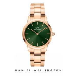 Orologio Daniel Wellington, collezione Iconic Link Emerald, orologi uomo, orologi donna, orologi alla moda, orologio cecilia rodriguez, chiara ferragni, orologio oro, cinturino maglia in acciaio, orologi gioielli, idee regalo, outlet.