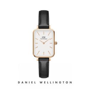 Orologio Daniel Wellington, collezione Quadro Pressed Sheffield, orologi uomo, orologi donna, orologi alla moda, orologio cecilia rodriguez, chiara ferragni, orologio placcato oro, cinturino in pelle nero, orologi gioielli, idee regalo, outlet.